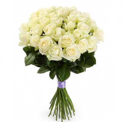 25 Белых Роз (50 см.) фото