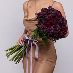 25 Фиолетовых Альстромерий фото