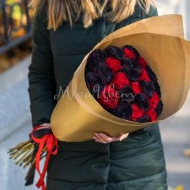 25 Красно-Черных Роз фото