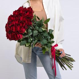 25 Красных Роз (100 см.) фото