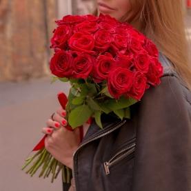 25 Красных Роз Premium (50/60 см.) фото