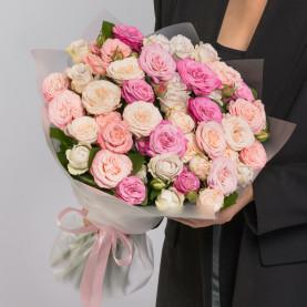 25 Кустовых Пионовидных Роз Микс (50 см.) фото