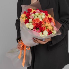 25 Кустовых Роз Микс (50 см.) фото