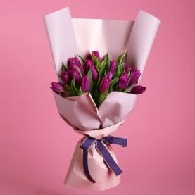 25 Малиновых Тюльпанов фото