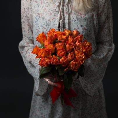 25 Оранжевых Роз фото