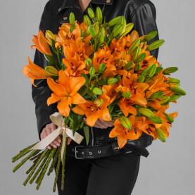 25 Оранжевых Лилий фото