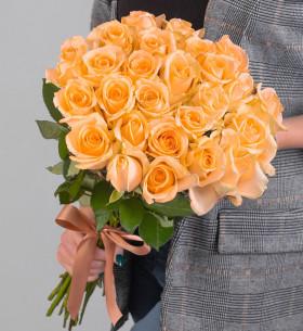 25 Персиковых Роз (50 см.) фото