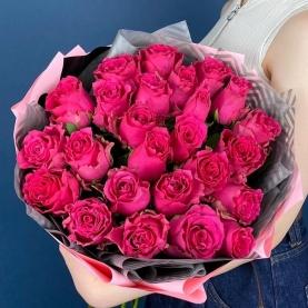 25 Малиновых Роз (50 см.) фото