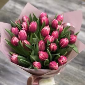 25 Пионовидных Тюльпанов Колумбус фото