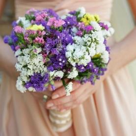 """Букет Невесты """"25 Разноцветных Статиц"""" фото"""