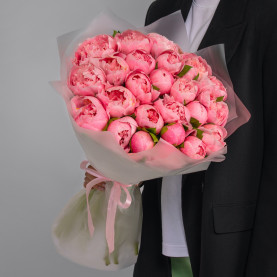 25 Розовых Пионов фото
