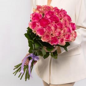25 Розовых Роз (60 см.) фото