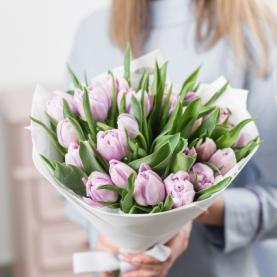 25 Розовых Тюльпанов фото