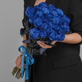 25 Синих Роз (70 см.) фото