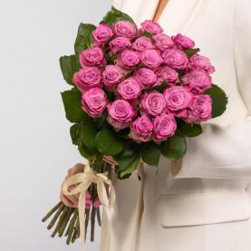 25 Сиреневых Роз (60 см.) фото