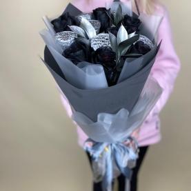 7 Черных Роз и Лотос фото