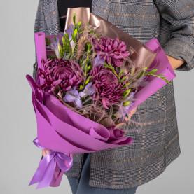 3 Фиолетовых Хризантем Бигуди фото