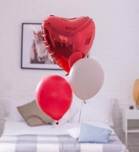 """3 Воздушных Шара """"Красное Сердце"""""""
