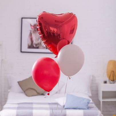 """3 Воздушных Шара """"Красное Сердце"""" фото"""