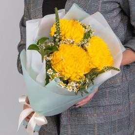 3 Желтых Хризантем Бигуди фото