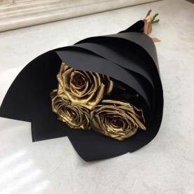 3 Золотые Розы (60/70 см.) фото