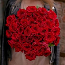 35 Красных Роз Premium (40/50 см.) фото