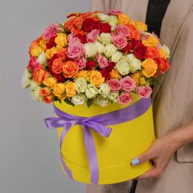 35 Кустовых Роз Микс (40 см.) в коробке фото