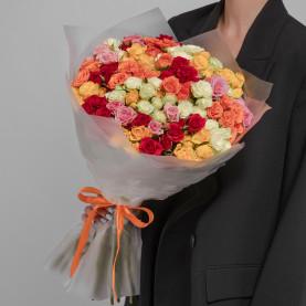 35 Кустовых Роз Микс (50 см.) фото