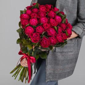 35 Малиновых Роз (60 см.) фото