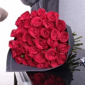 35 Малиновых Роз (40/50 см.) фото