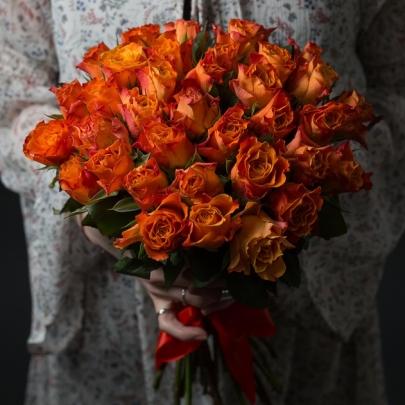 35 Оранжевых Роз фото