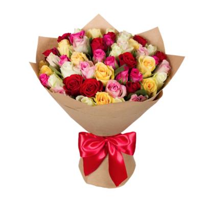 35 Разноцветных Роз (40 см.) фото