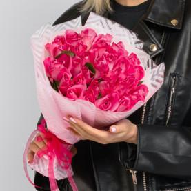 35 Розовых Роз (40 см.) фото