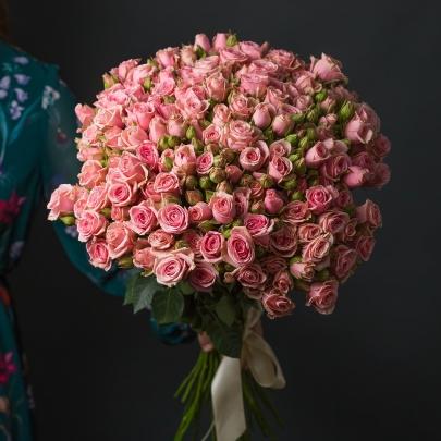 35 Розовых Роз Кустовых фото