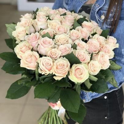 35 Розовых Роз Эквадор (40/50 см.) фото