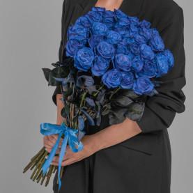 35 Синих Роз (70 см.) фото