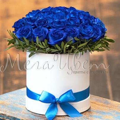 35 Синих Роз Premium в коробке фото