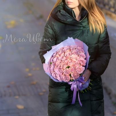 35 Сиреневых Роз (50 см.) фото