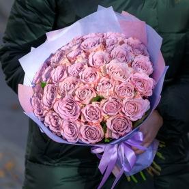 35 Сиреневых Роз Эквадор (50/60 см.) фото