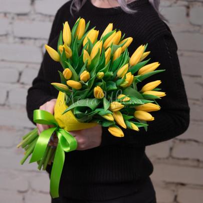 35 Тюльпанов желтых фото