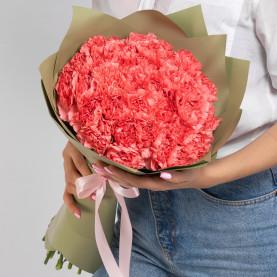 35 Ярко-Розовых Гвоздик фото