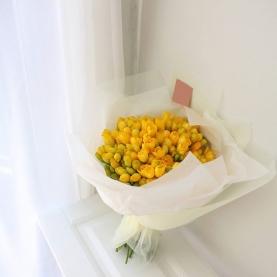 35 Желтых Фрезий фото