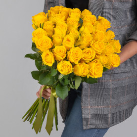 35 Желтых Роз (50 см.) фото