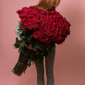 45 Красных Роз (90-100 см.) фото