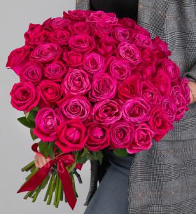 45 Малиновых Роз (50 см.) фото