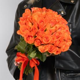45 Оранжевых Роз (40 см.) фото