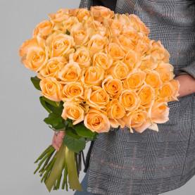 45 Персиковых Роз (50 см.) фото
