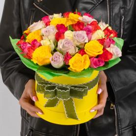 45 Роз Микс (40 см.) в коробке фото