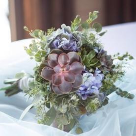 Букет Невесты с Суккулентами фото