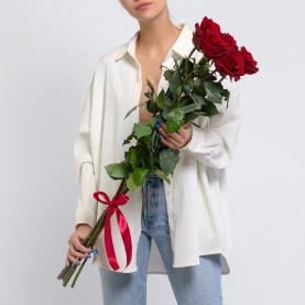 5 Красных Роз (100 см.) фото